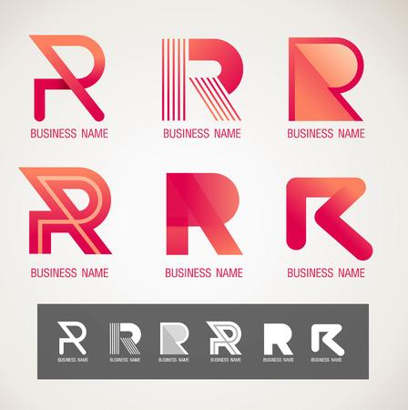 Logotipo y símbolo de diseño R concepto