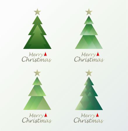 Christmas Greeting. Merry Christmas lettering, minimal style. vector illustration. Ilustracja
