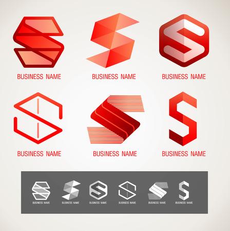 illustraion: Symbol design S concept, modern minimal, vector illustraion