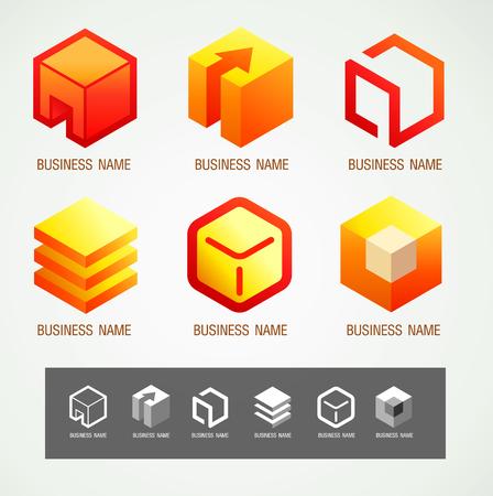 Logo and Symbol design Box concept, modern minimal, vector illustration