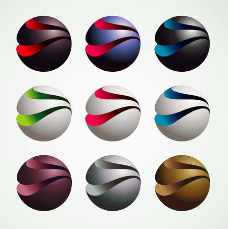 3D Ball Symbol Graphic objects, luxury and modern style, graphic resources, vector illustration Illustration