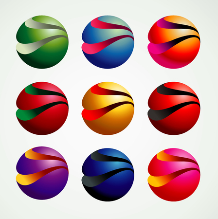 3D Ball Symbol Graphic objects, colorful and modern style, graphic resources, vector illustration