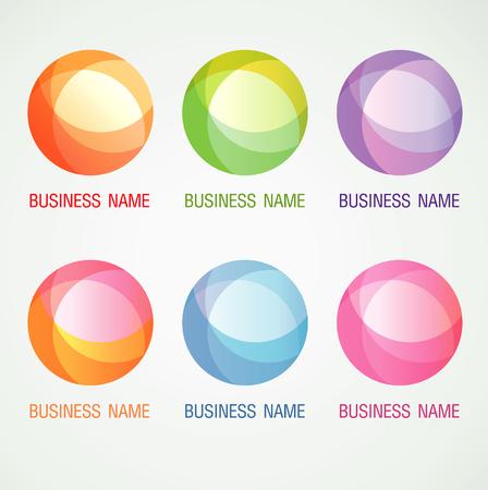 Logo and Symbol design Circle ball color concept, modern minimal, vector illustration Ilustracja