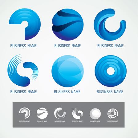 Logo and Symbol design Circle and O concept, modern minimal, vector illustration Ilustracja