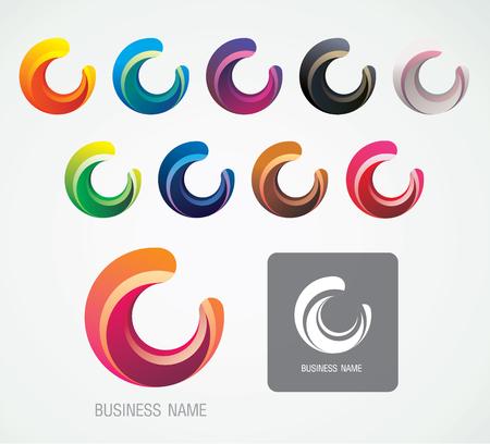 Moon and C Logo Symbol design , modern minimal, graphic resources, vector illustration
