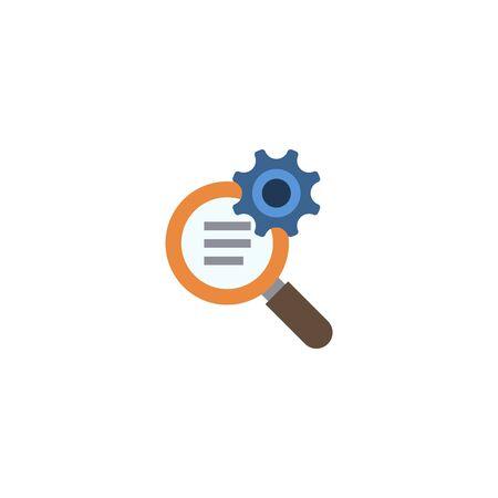 SEO optimization creative icon on white background. Flat simple illustration. Illusztráció