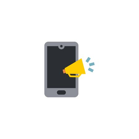 Mobile marketing creative icon on white background. Digital marketing icons collection. 向量圖像