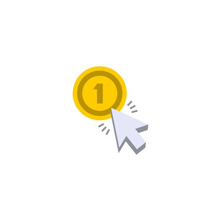 Cost per click creative icon on white background. SEO icons collection.