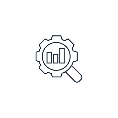 Search optimization creative icon on white background. SEO icons collection. Illustration