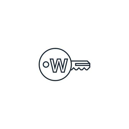 Keyword creative icon on white background. SEO icons collection.