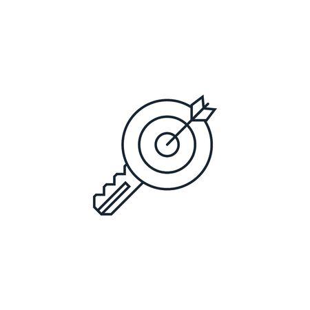 Target keywords creative icon on white background. SEO icons collection. Çizim