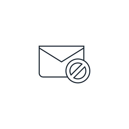 Spam creative icon on white background. SEO icons collection. Иллюстрация