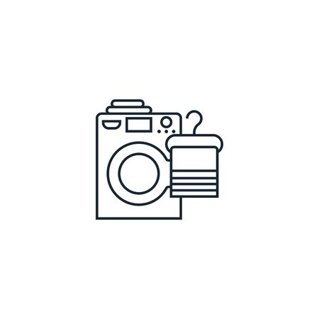 Laundry service creative icon. line illustration. From Services icons collection. Isolated Laundry service sign on white background