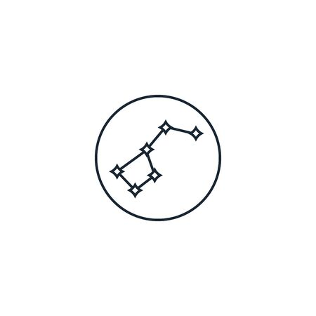 constellation creative icon on white background. Space Exploration icons collection. Illustration