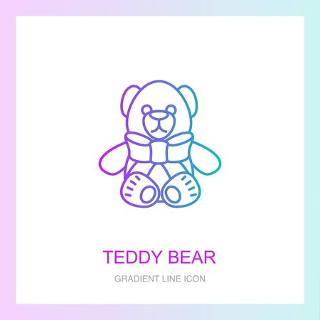 teddy bear creative icon. From Christmas icons collection. Isolated teddy bear sign