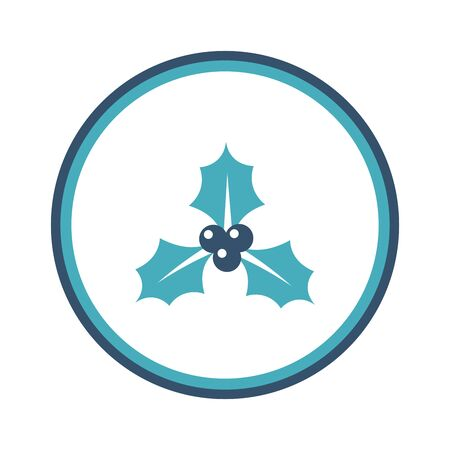 holly creative icon. From Christmas icons collection. Isolated holly sign Ilustração