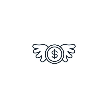 Angel investor creative icon. From Entrepreneurship icons collection. Isolated Angel investor sign on white background