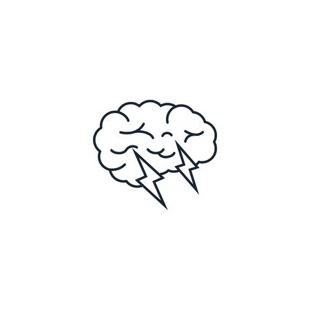 Brain storm creative icon. From Entrepreneurship icons collection. Isolated Brain storm sign on white background