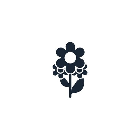 Floral design creative icon. From Handmade icons collection. Isolated Floral design sign on white background
