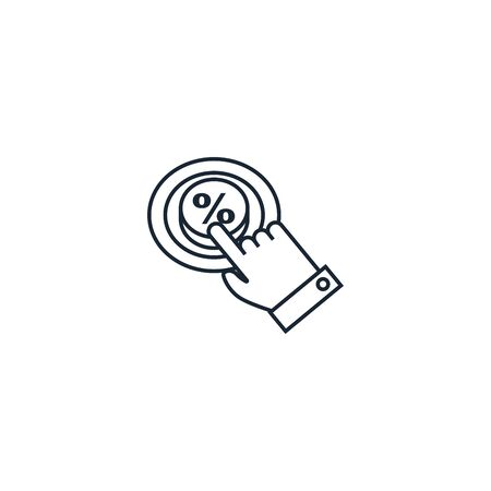 Click Through Rate creative icon. From Social Media Marketing icons collection. Isolated Click Through Rate sign on white background Ilustração