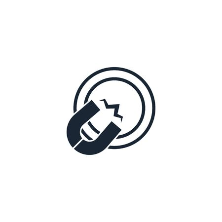 Attract creative icon. From Social Media Marketing icons collection. Isolated Attract sign on white background  イラスト・ベクター素材