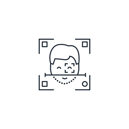 Facial Recognition creative icon. From Augmented Reality icons collection. Isolated Facial Recognition sign on white background 向量圖像