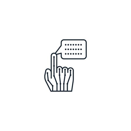 Haptics creative icon. From Augmented Reality icons collection. Isolated Haptics sign on white background