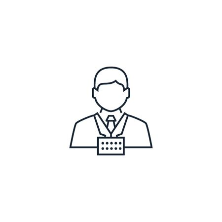 participant creative icon. From Business People icons collection. Isolated participant sign on white background Illustration