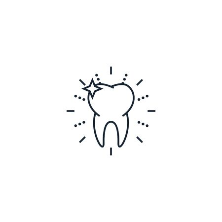 healthy tooth creative icon. From Dental icons collection. Isolated healthy tooth sign on white background