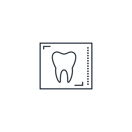 dental x-ray creative icon. From Dental icons collection. Isolated dental x-ray sign on white background