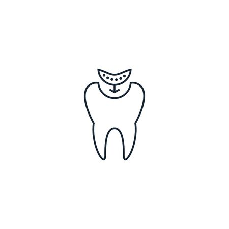 composite fillings creative icon. From Dental icons collection. Isolated composite fillings sign on white background