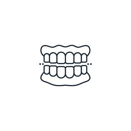 denture creative icon. From Dental icons collection. Isolated denture sign on white background