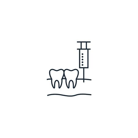 Anesthesia creative icon. From Dental icons collection. Isolated Anesthesia sign on white background