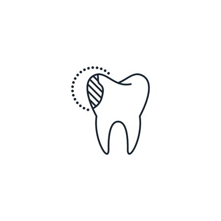 tooth reconstruction creative icon. From Dental icons collection. Isolated tooth reconstruction sign on white background