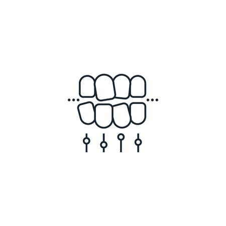 tooth alignment creative icon. From Dental icons collection. Isolated tooth alignment sign on white background