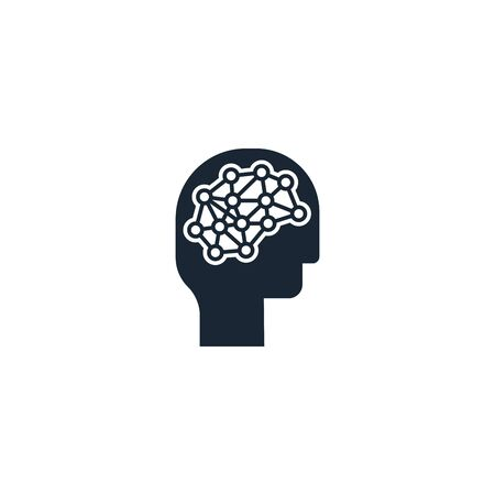 Deep learning creative icon. From Artificial Intelligence icons collection. Isolated Deep learning sign on white background