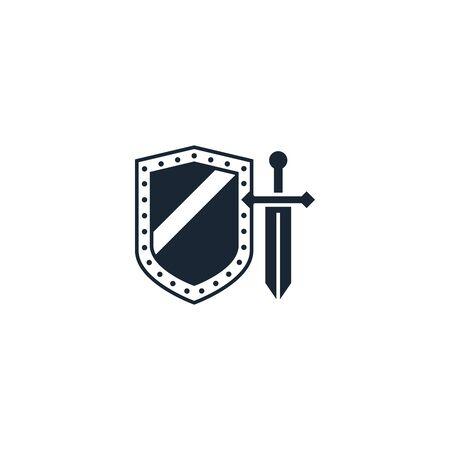 Icono creativo de RPG. De la colección de iconos de juegos. Signo de RPG aislado sobre fondo blanco.