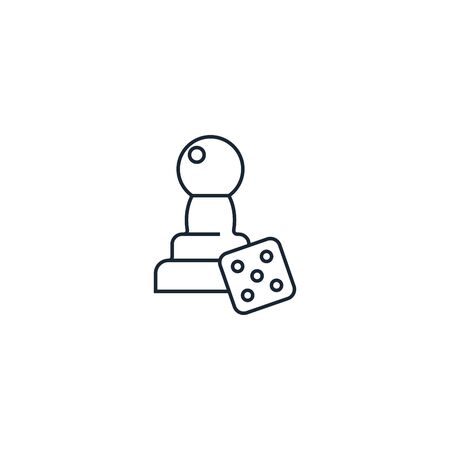 Strategy game creative icon. From Gaming icons collection. Isolated Strategy game sign on white background