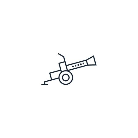 artillery creative icon. From War icons collection. Isolated artillery sign on white background 向量圖像