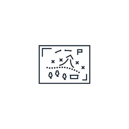 military operation creative icon. From War icons collection. Isolated military operation sign on white background 向量圖像