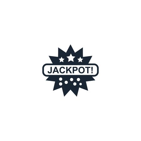 Jackpot creative icon. From Casino icons collection. Isolated Jackpot sign on white background Çizim