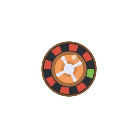 roulette creative icon. From Casino icons collection. Isolated roulette sign on white background