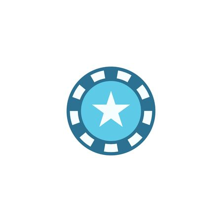 casino Chip creative icon. From Casino icons collection. Isolated casino Chip sign on white background Çizim