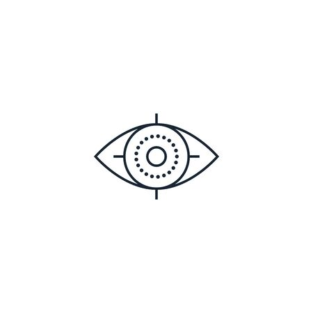 ophthalmology creative icon. From Medicine icons collection. Isolated ophthalmology sign on white background