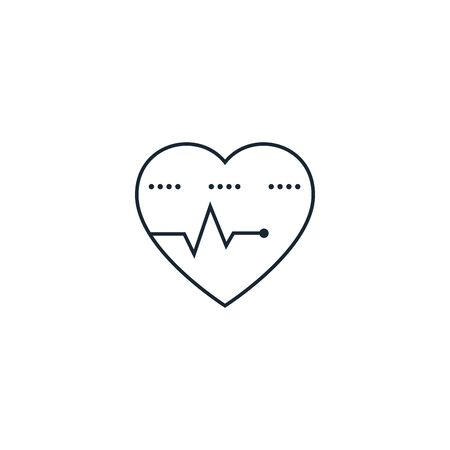 heart pulse creative icon. From Medicine icons collection. Isolated heart pulse sign on white background