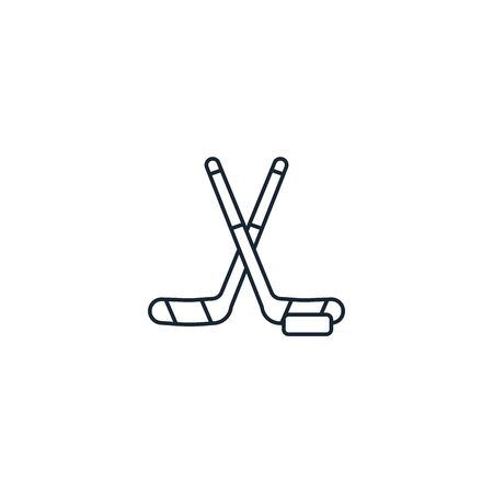 Hockey creative icon. From Sport icons collection. Isolated Hockey sign on white background