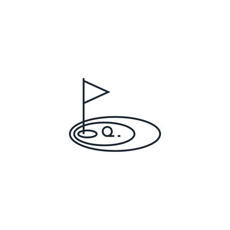 Golf creative icon. From Sport icons collection. Isolated Golf sign on white background Çizim
