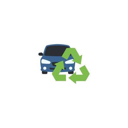 car recycling creative icon. From Recycling icons collection. Isolated car recycling sign on white background