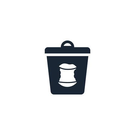 food trash creative icon. From Recycling icons collection. Isolated food trash sign on white background Ilustração
