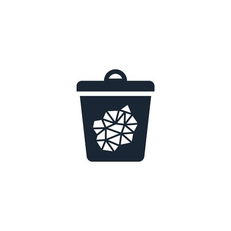 paper trash creative icon. From Recycling icons collection. Isolated paper trash sign on white background Illustration